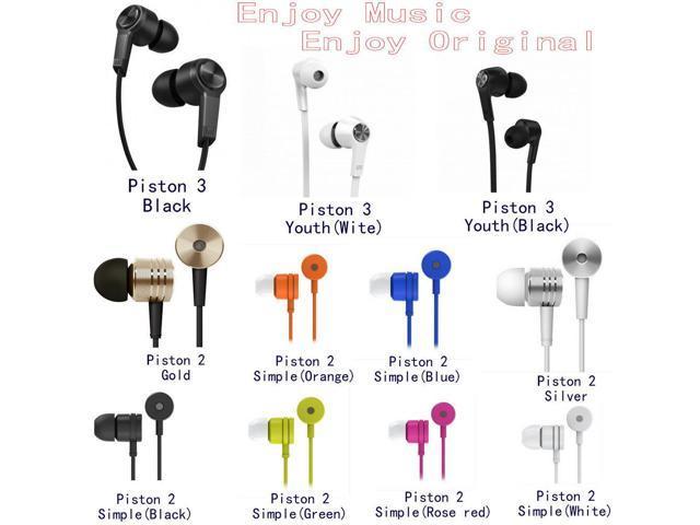 (No retail box) 2015 100% original Xiaomi piston 3 fashion sport super bass headphone HIFI piston 2 earphone for xiaomi phones