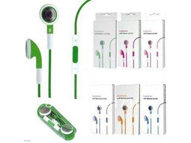 Retail pack Blue Board Volume Control+ Mic earphone For IPhone 4 4S iphone 5 5S 5C remotate control Headphone