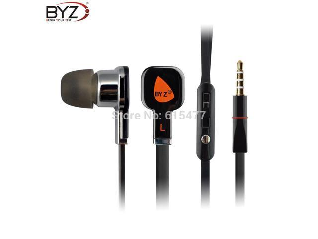 BYZ S700 ear headset phone headset noodles, games sports headphone microphone is compatible with all 3.5mm smartphone mp3