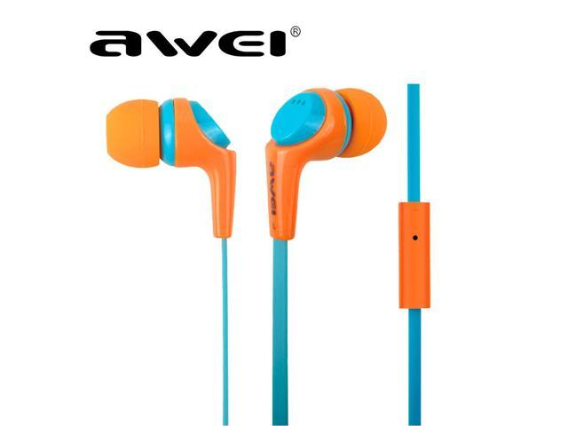 Awei ES Q6i Colorful headphones, bass headphones, in ear headphones with microphone