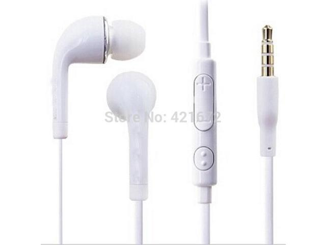 3.5mm Stereo Headset Headphone Earphone for Samsung Galaxy S3 S4 S5 S6 Note 2 3 4 N7100 with Volume Control Mic