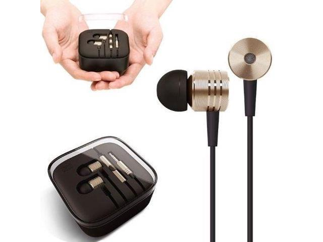 Original xiaomi Piston Earphones Earbuds With Mic Remote Best Bass 3.5mm TRRS Plug Cellular Phones Android Smart Device Gold