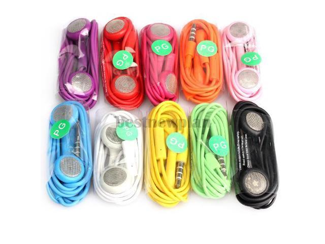 10x Earphone Headphone With Mic For iPhone 4G 4S 3GS 3G Mp3 iPod Touch Nano