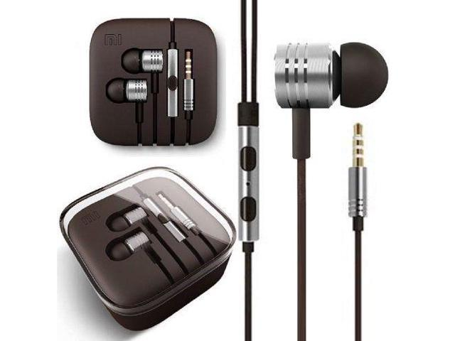 Original xiaomi Piston Earphones Earbuds With Mic Remote Best Bass 3.5mm TRRS Plug Cellular Phones Android Smart Device Silver