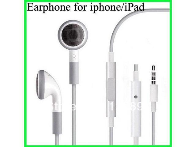 HOT Sell ! Earphone Headphones With Mic For iPhone/IPod/Itouch/IPAD Earphone Microphone 3.5mm Jack Freeshipping
