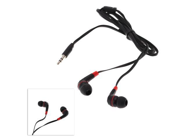High quality Listening Music Earphones Headphones Black In ear 3.5mm Piston Earphone with Earbud for Smartphone MP3 MP4