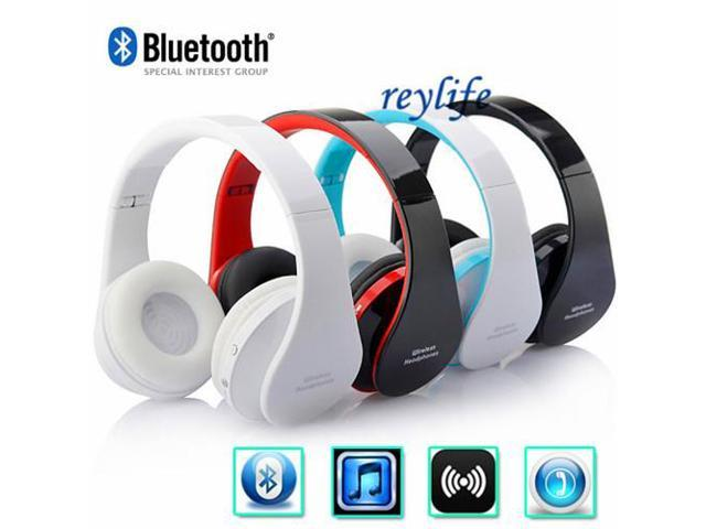 Wireless Bluetooth V3.0 headphone + Card Headphones With Microphone + Over ear FM Radio MP3 Player + Stereo Headset
