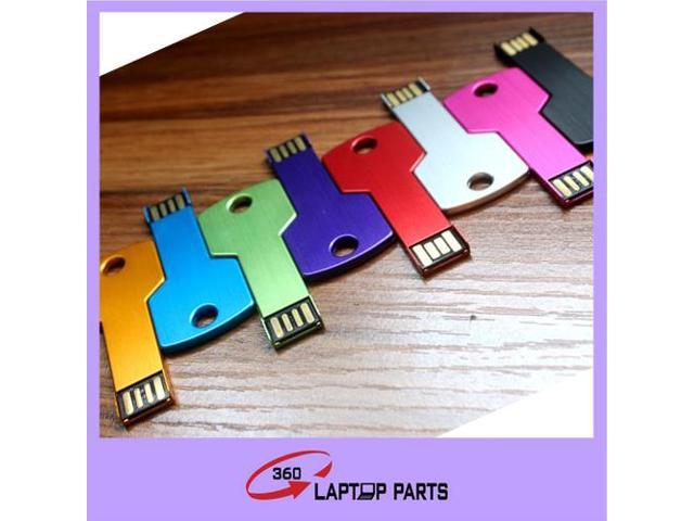 Wholesale 100pieces/Lot Colorful Waterproof USB stick 100% really capacity Metal key USB 2.0 USB Flash Drives