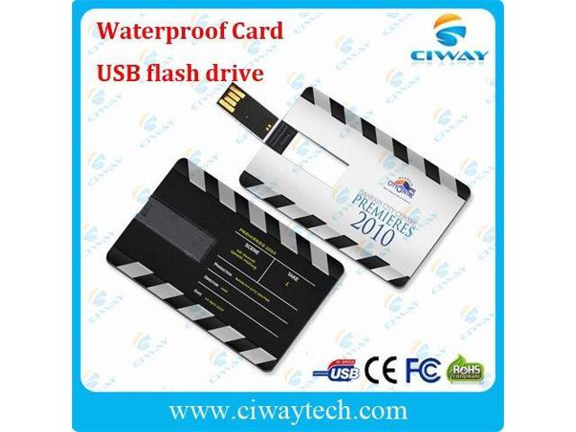 wholesale 10pcs/lot 4GB waterproof card usb flash drive