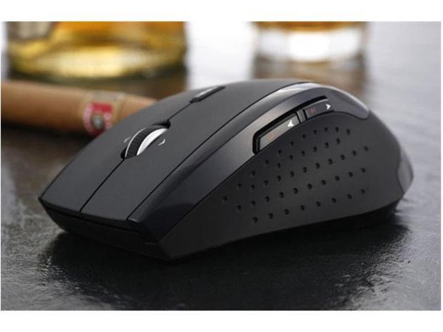 Hot sale 2.4G wireless game playing laser mouse classic black color gaming mouse for desktop laptop computer