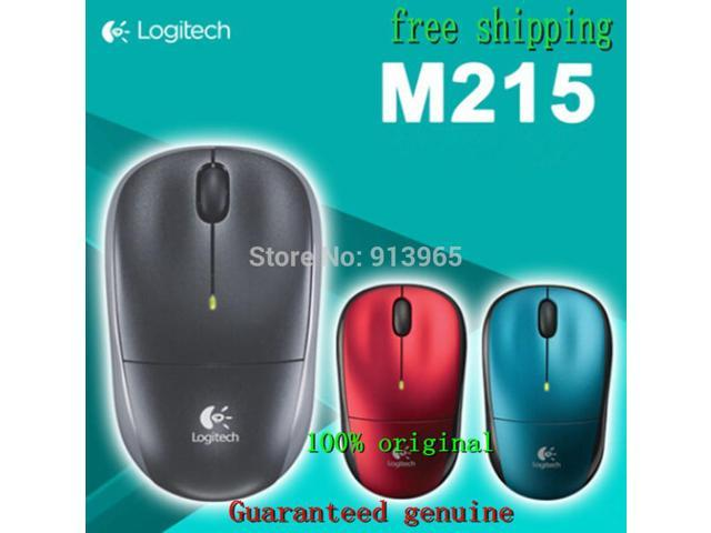 100% Original for Logitech 2.4Ghz Wireless Mouse M215 GaMouse 1000DPI Wired Mice for Office Mouse Mini receiver