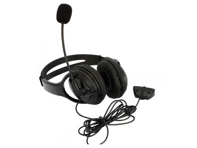 Lot 2 Big Live Headset with Microphone MIC for Xbox 360 Controller Black
