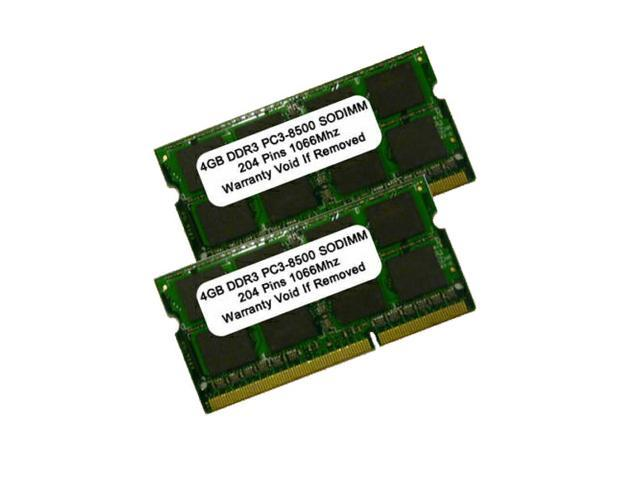 8GB 2 X 4GB DDR3 1066 (PC3 8500) DDR3-1066MHZ PC3-8500 204pin SODIMM RAM Memory FOR MAC AND PC
