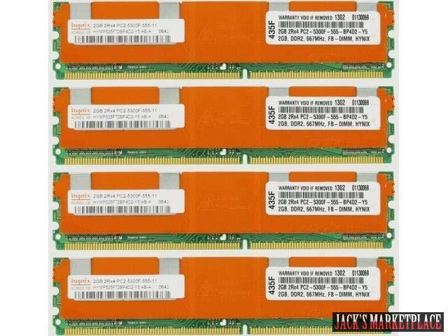 NOT FOR PC/MAC! 8GB 4X2GB KIT DELL FBDIMM PowerEdge 2900 M600 2950 III 2900 R900 T110 RAM MEMORY For Server Computer (Ship from US) ...