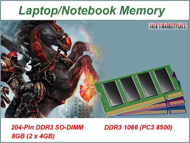 8GB 2 X 4GB DDR3 1066 (PC3 8500) DDR3-1066MHZ PC3-8500 204pin SODIMM RAM Memory FOR MAC AND PC (Ship from US) Part#:MP29050300001