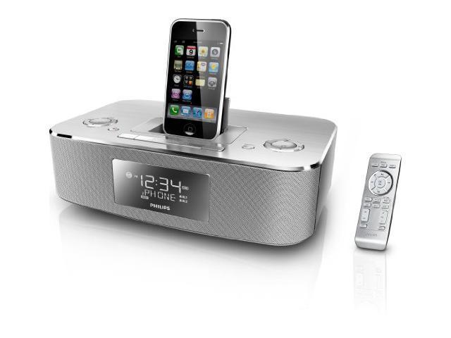 iPhone/iPod clock radio- Aluminum finish