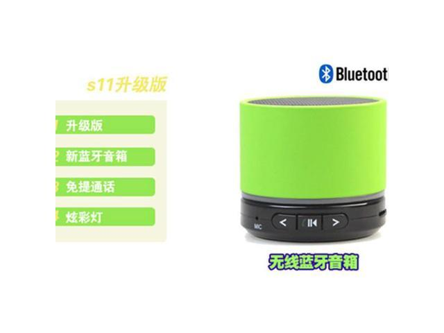 S11 Bluetooth Handsfree Speaker TF card with LED lights and Bluetooth stereo headphone jack