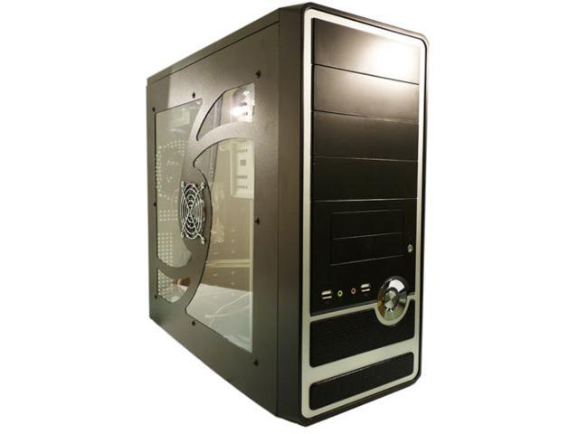 Ark PA06 ATX Mid Tower Computer Case, w/ 500W PS2 PSU, Side Window and 80mm Fan.