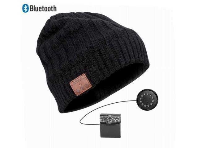 Bluetooth Beanie headset with built in headphones and mic; Wireless Stereo Beanie Hat, hands free talking for iphone 6, 5s, 5, 5c, 4s,4; ...