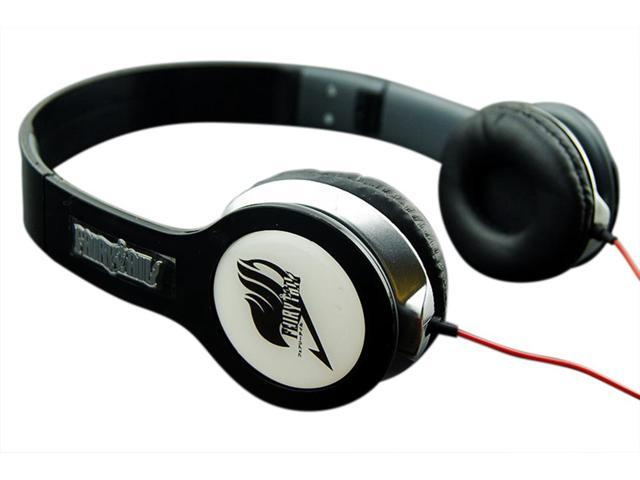 New Anime Fairy Tail folding headset adjustable Headphone Earphone in black