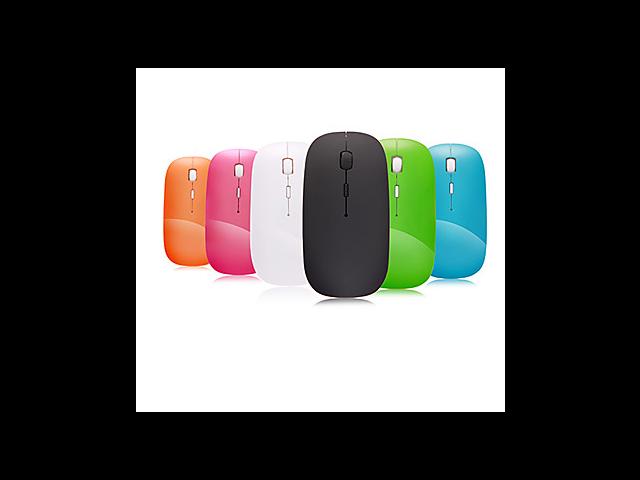 A100 2.4GHz Wireless Optical Mouse Super Slim Mini Adjustable DPI Black