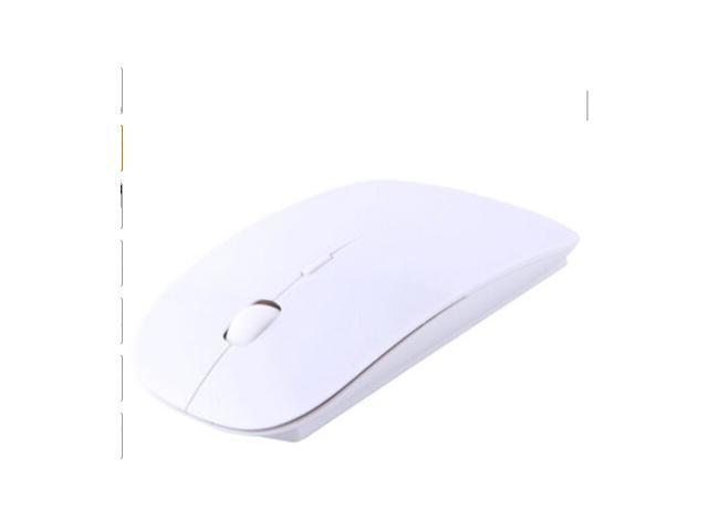 Sleek Form-Fitting Ergonomic Curved Wireless 2.4 GHz Optical Slim Mouse with DPI Switch
