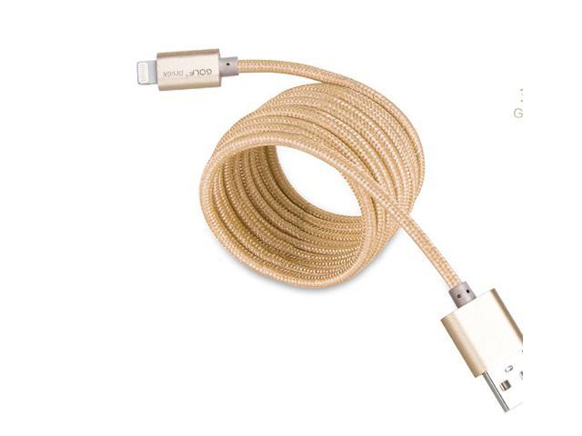 GOLF gold silver Metal nylon 8-Pin Lightning to USB Cable 1M Sync Charger for iPhone 6 6Plus 5S 5 iPad Air Mini iPod
