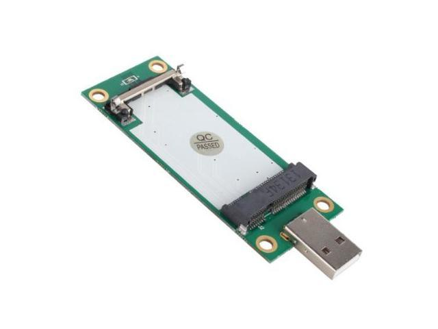 Generic Mini PCI-E Wireless WWAN To Sourcingbay® USB Adapter Card With SIM Card Slot Module Testing