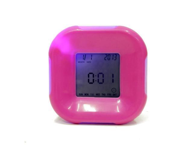 1pc 4 in1 Multi-Function 4 Side Desk Clock Calendar/Timer/Temperature LED Digital Alarm Clock