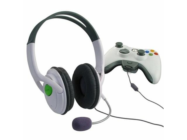 2 Pack Gaming Chat Headphones Headsets with Microphone Mic for Xbox 360 Live (White)