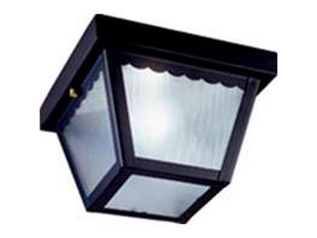 Boston Harbor 6276BK3L Single Light Impact Porch Ceiling Light Fixture, Black