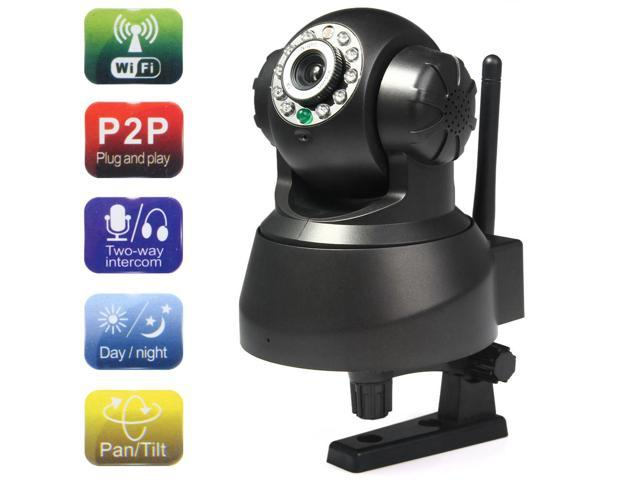 0.3MP MJPEG WiFi IP Camera with Night Vision Motion Detection - 100-240V