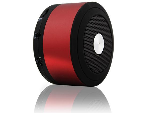 VANTRUE N8 Ultra Portable Mini Wireless Bluetooth Speaker with Long Playtime, Built-in Microphone for Hands-free Calling, Red