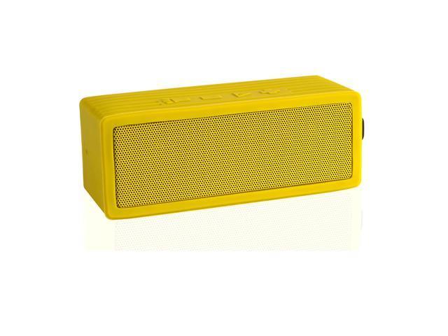 VANTRUE N13 Portable Rugged Water Resistant Wireless Bluetooth Speaker with Microphone, SOS Laser Light, Yellow