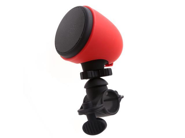 VANTRUE® Waterproof Bluetooth Speakers Bike Mount Outdoor Wireless Bluetooth Speaker with Microphone and Mount, for Apple & Android Smartphones, Red