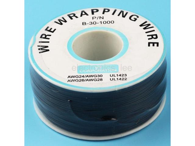 1 Reel Copper Wire 0.6mm inner 0.25mm 200m Tin-plated PVC Electronic Cable Black