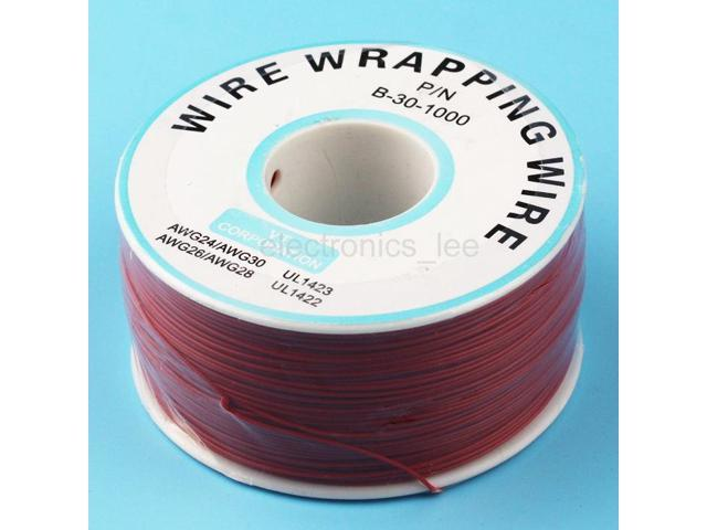1 Reel Copper Wire 0.6mm inner 0.25mm 200m Tin-plated PVC Electronic Cable Red