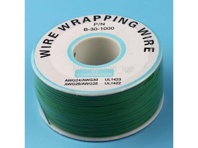 1 Reel Copper Wire 0.6mm inner 0.25mm 200m Tin-plated PVC Electronic Cable Green