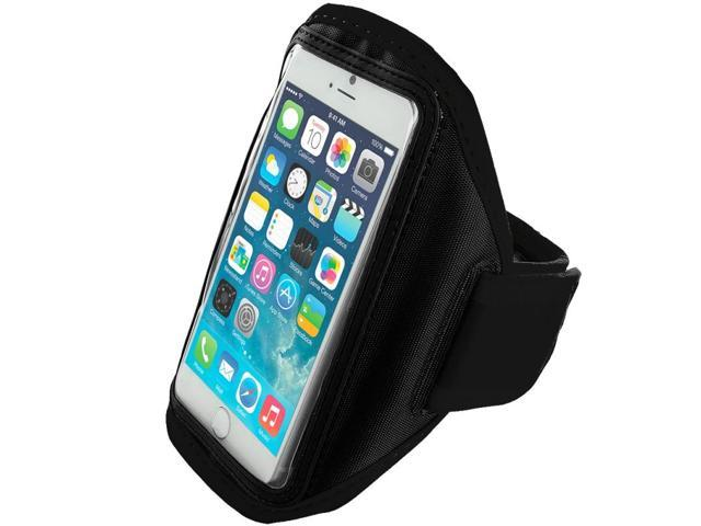 Black Running Sports Gym Armband for Apple iPhone 6 Plus (5.5)