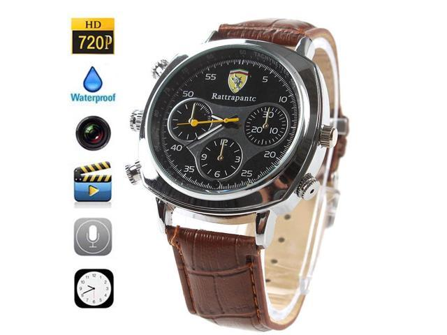 HIGH CAPACITY 16GB Watch Hidden Camera Extended Storage - Spy Micro Lens HD Camcorder Covert Wireless Recording Mini DVR Fashionable Classic ...