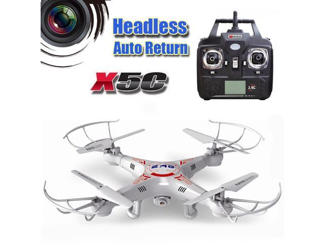 RC Quadcopter X5C V2.0 with Headless and Auto-return Function 2.4G 4CH 6 Axis Remote Control Helicopter Toys RC Drone With HD Camera