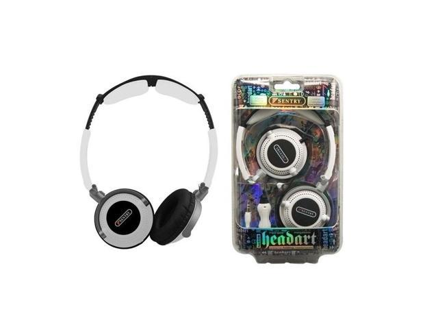 Sentry Head Art DJ Style Over The Head Headphones White - Sentry HO406