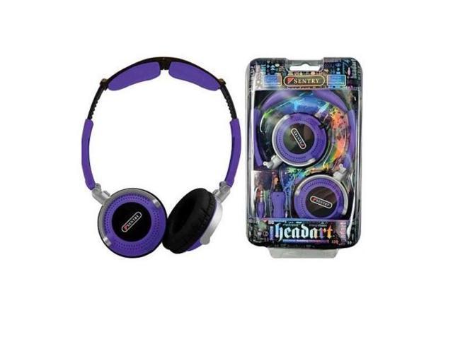 Sentry Head Art DJ Style Over The Head Headphones Purple - Sentry HO408