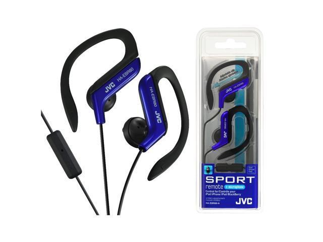JVC HA-EBR80-A Athletic Sport Clip Style Earbud Headphones w HAEBR80 Blue