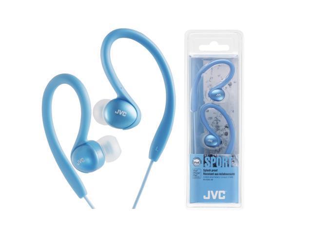 JVC HA-EBX5-AN Sport Ear Clip Headphones/Splash-proof HAEBX5 Blue /GENUINE