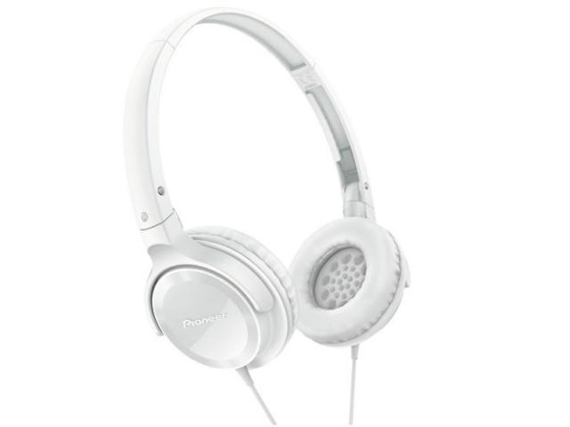 Pioneer SE-MJ502-W SE-MJ502 Fully Enclosed Dynamic Headphones SEMJ502 White