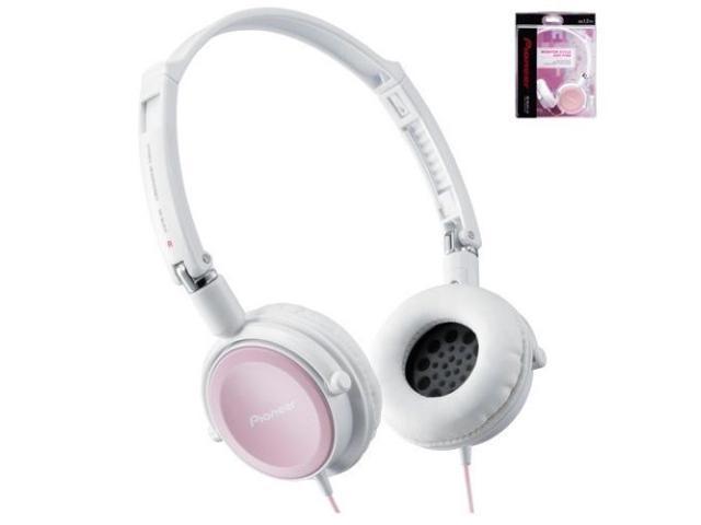Pioneer SE-MJ511-HP Closed Dynamic Headphones Powerful Bass SE-MJ511 Ash Pink