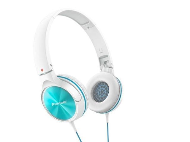 Pioneer SE-MJ522-G Headphones Dynamic Stereo Sound 40mm SEMJ522 Turquoise