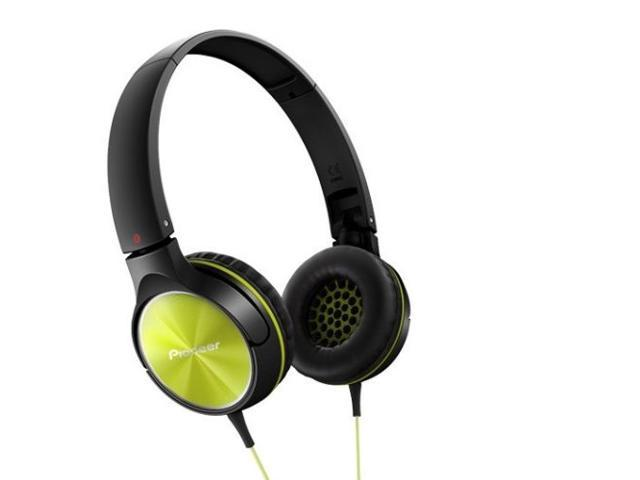 Pioneer SE-MJ522-Y Headphones Dynamic Stereo Sound 40mm SEMJ522 Lime /GENUINE