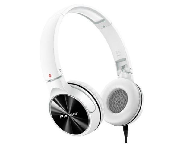 Pioneer SE-MJ542-W Headphones Dynamic Stereo Sound 40mm SEMJ542 White /GENUINE